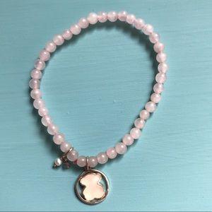 🐻 Authentic Tous Rose Quartz stretchy bracelet